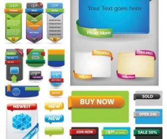 Beautiful Vector Web Design Decorative Block Web Design Vector Graphics