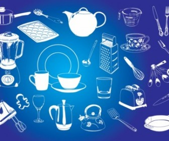Kitchen Graphics Vector Art