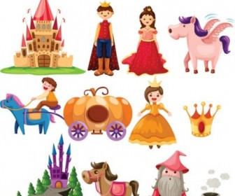 Cartoon Fairytale Image Of 02 Vector Cartoon Vector Art