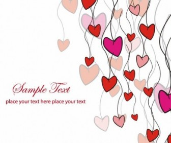 Love Card Vector Illustration Heart Vector Art