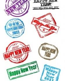 New Postmarks Vector Vector Art