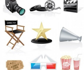 Movie Icon Vector 2 Icon Vector Graphics