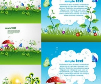 Beautiful Green Cartoon Background Vector Background Vector Art