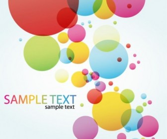 Colorful Circle Vector Background Background Vector Art