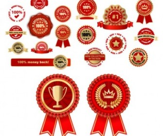 Some Of The Practical Badge Medal Vector Vector Art