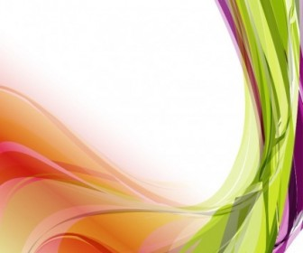 Abstract Colorful Wavy Vector Background Abstract Vector Graphics