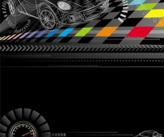 Racing Theme Background Pattern 03 Vector Background Vector Art