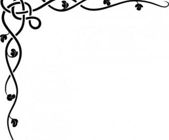 Celtic Vine Corner Clip Art Vector Clip Art