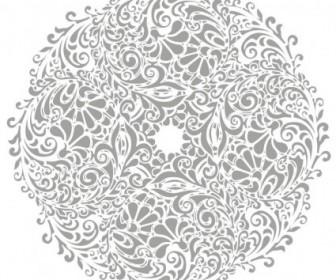 Floral Round Background Vector Illustration Floral Vector Art