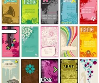 Beautiful Card Template Vector Fashion Vector Art