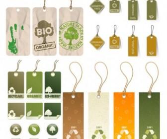 Variety Of Environmental Tag Vector Vector Art