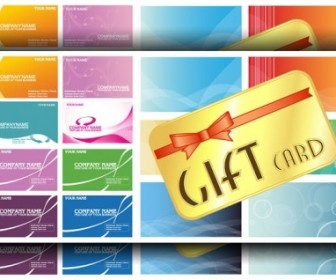Practical Card Template Vector Background Background Vector Art