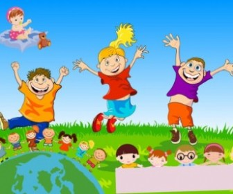 Children Theme Vector Vector Art