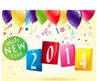 Happy New Year 2014 Vector Art