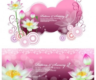 Lotus And Vector Fantasy Background Background Vector Art