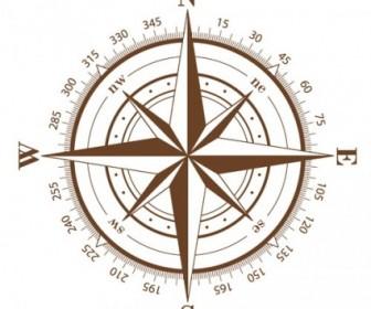 Compass Vector Vector Art