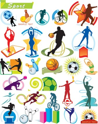 Children and sport vector | ai format free vector download.