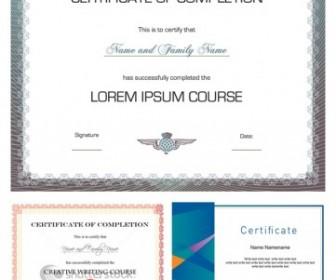 Three Vector Design Certificate Vector Art