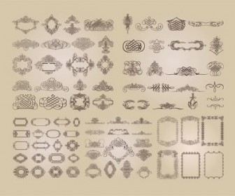 A Variety Of Fine Lace Border Vector Pattern Pattern Vector Art