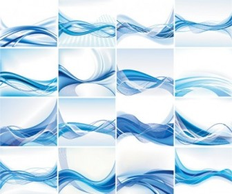 Dynamic Lines Of The Blue Background Vector Background Vector Art