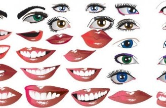 Lips And Eyes Vector People Vector Art