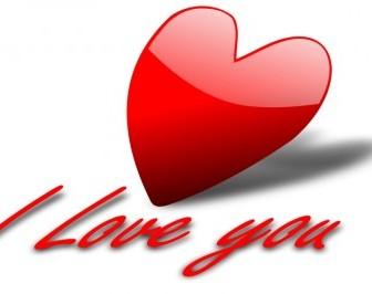 I Love You 5 Vector Clip Art