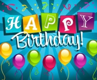 Birthday Card 01 Vector Vector Art