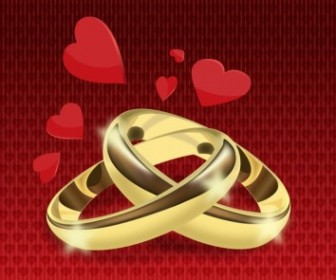 Wedding Rings Vector Vector Art