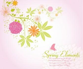 Spring Flower Background Background Vector Art