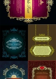 European Classical Decorative Box Vector Vector Art