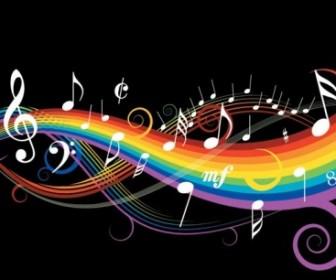 Theme Music Notes Vector 1 Vector Art