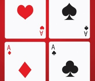 Poker Game Cards Vector Art
