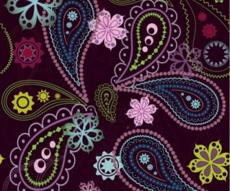 Free Vintage Flower Seamless Pattern Vector Graphic Pattern Vector Art