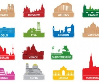The Worldfamous City Building Silhouette 01 Vector Silhouettes Vector Graphics