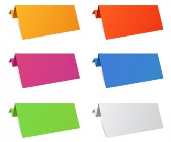 Colorful Origami Paper Sheets Vector Art