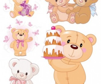 Cute Cartoon Bear Vector Cartoon Vector Art