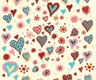 Valentine's Day Hearts Pattern Vector Graphic Pattern Vector Art