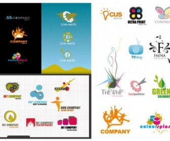 Variety Of Logo Template Vector Logo Vector Art