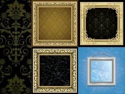 Retro Frame Vector Vector Art