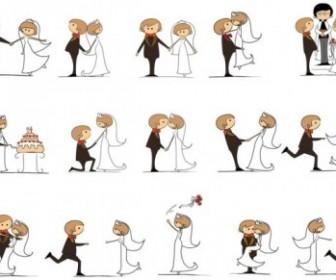 Cartoonstyle Wedding Elements 06 Vector Cartoon Vector Art