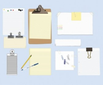 Office Supplies Vector Art