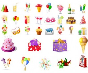 Birthday Theme Icon Vector Icon Vector Graphics
