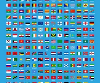 Vector Set Of Flags Of World Vector Art
