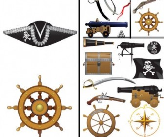 Pirates Clip Art Equipment And Supplies Vector Clip Art