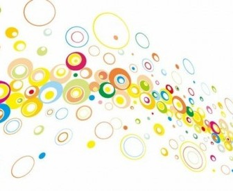 Colorful Circles Vector Background Background Vector Art