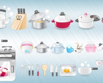 Kitchen Icons Icon Vector Graphics