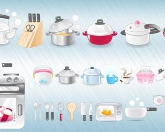 Kitchen Icons Icon Vector Graphics