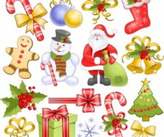 Christmas Elements Set Vector Christmas Vector Graphics