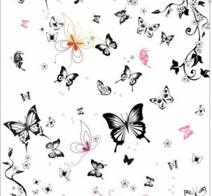 The Super Multi Black And White Butterfly Vector Set Vector Art