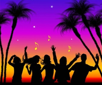 Party Silhouettes Vectors Silhouettes Vector Graphics
